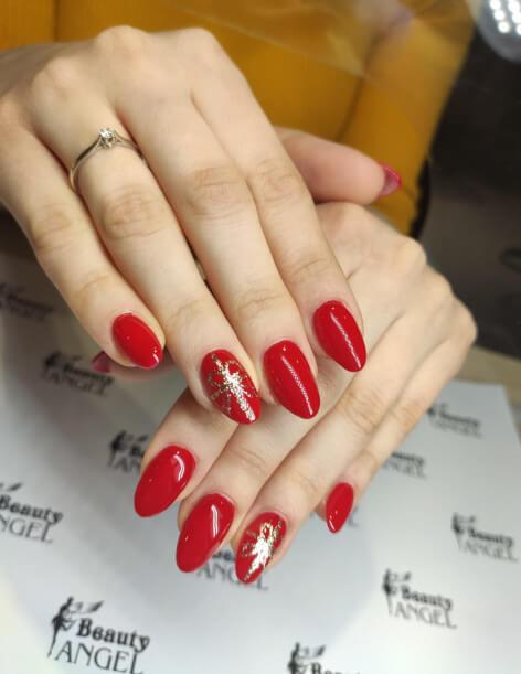 Bordowe paznokcie hybrydowe Beauty Angel