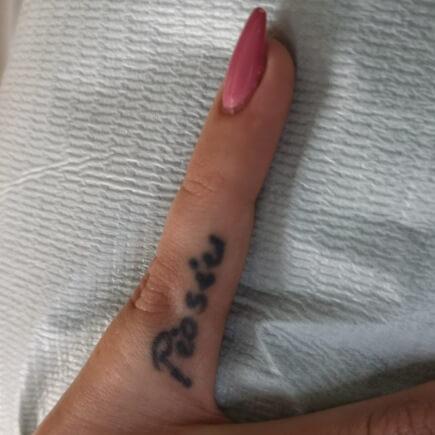 Tatuaż przedlaserowym usuwaniem wsalonie urody Beauty Angel