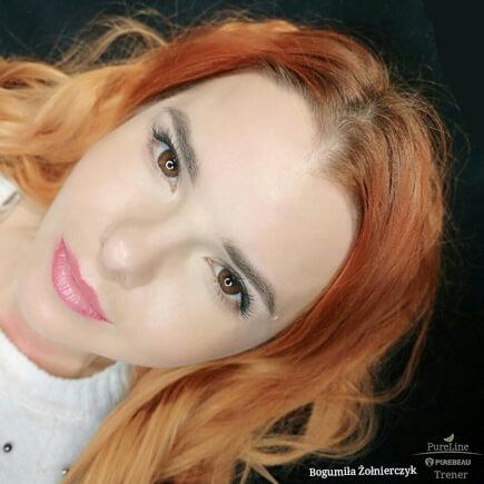 Usta ibrwi powygojeniu, pozabiegu makijażu permanentnego
