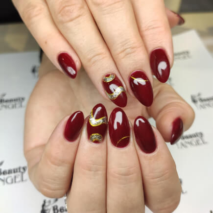 Czerwone paznokcie hybrydowe - stylizacja paznokci Beauty Angel